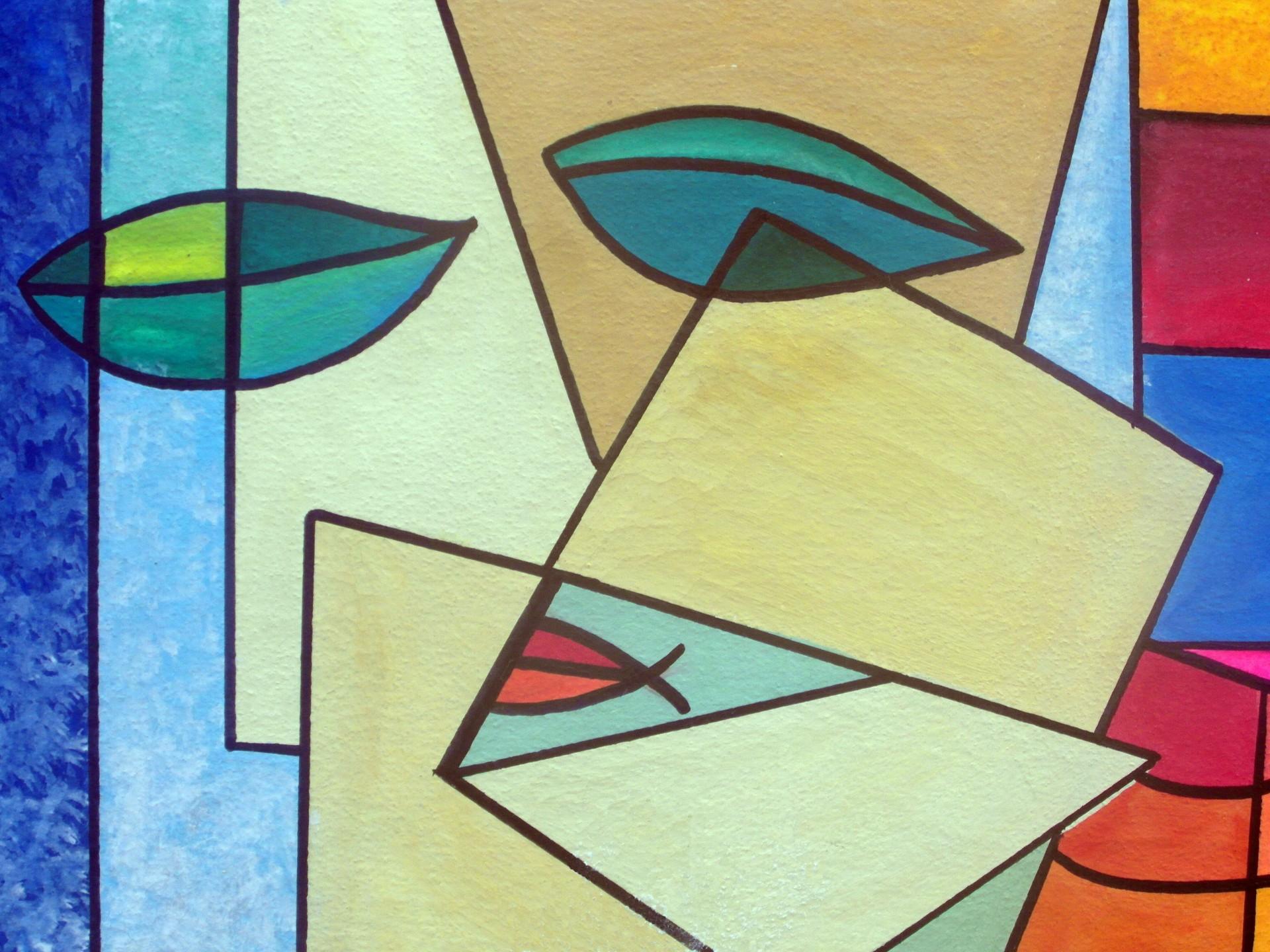 Abstract Art Face High Faluter